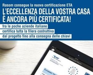Certificazione europea per le case in legno Rasom