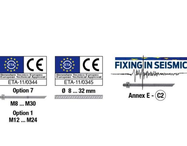 Certificazione sismica C2 per l'ancorante chimico EPOXY21
