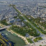 Gli Champs-Élysées si trasformano in un grande giardino pubblico