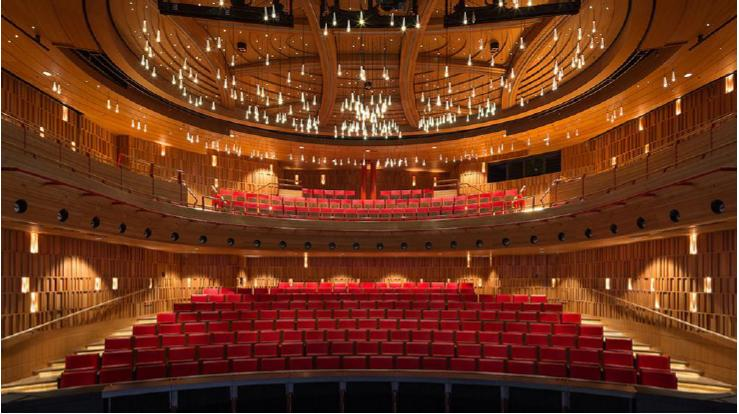 Legno di ciliegio americano, Susie Sainsbury Theatre, Royal Academy of Music