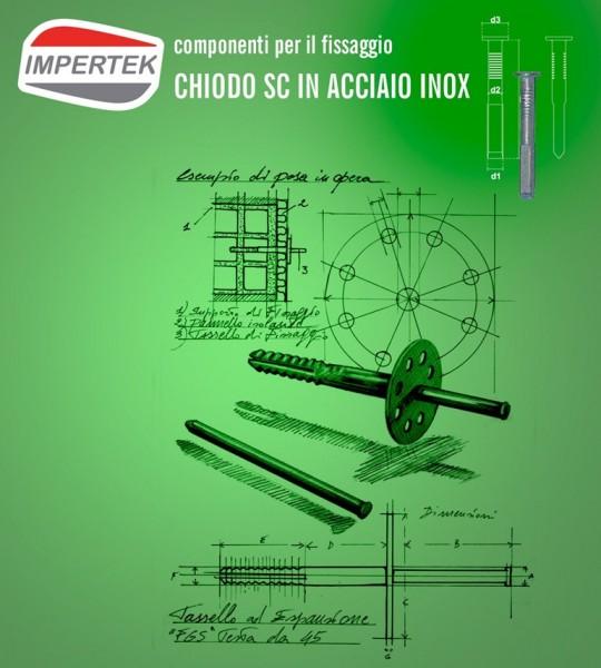 Componenti per il fissaggio - chiodo in acciaio inox per calcestruzzo