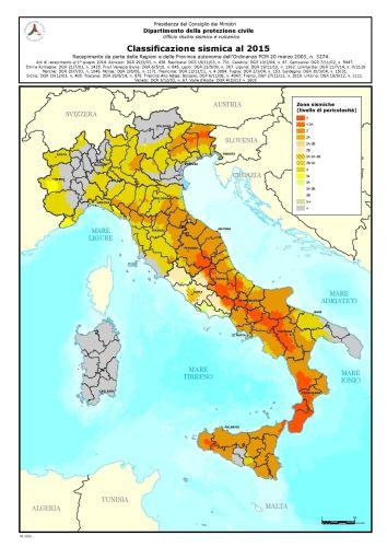 Classificazione sismica, Dipartimento della protezione civile