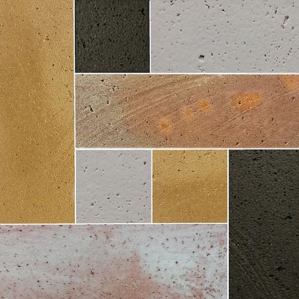I colori della Linea Habitat di rivestimenti in terracotta per l'interior design di Terreal