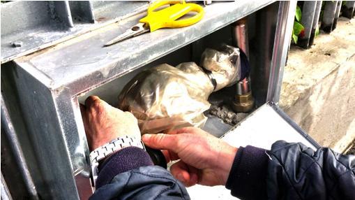 Installare i contatori in una nicchia adeguatamente protetta dal gelo.