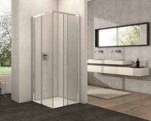 Box doccia Provex Arco Free con piatto doccia filo-pavimento