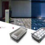 BAGA Light: blocchetto in vetro con 8 led solari