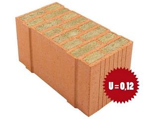 08.Porotherm PLANA+: blocchi in laterizio rettificato riempiti di lana di roccia