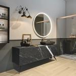 Geromin rivoluziona l'arredo bagno con l'effetto marmo di Eclipse