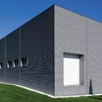 Sistema di facciata in zinco titanio Sinus