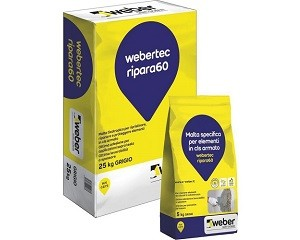 Webertec ripara60: malta tixotropica