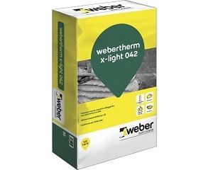 Webertherm x-light 042: intonaco termo-acustico alleggerito
