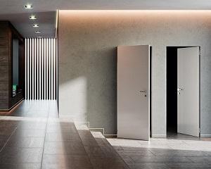 xREVERx: sistema filo muro con porta battente reversibile