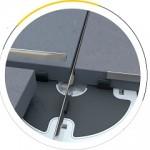 King-Space Metal Visual: elementi per fughe metalliche tra piastre