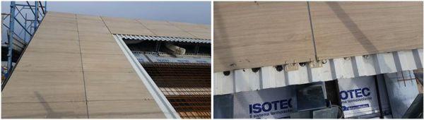 Isotec parete di Brianza Plastica per la copertura isolata e ventilata con rivestimento ceramico