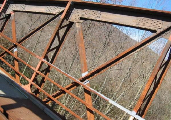 Corrosione della carpenteria metallica