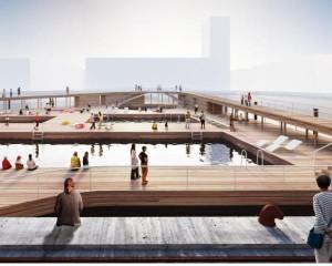 Innovativa architettura di legno per la stazione balneare di Aarhus
