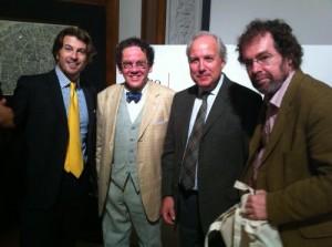 Da sinistra  Prof. Davide Luraschi, Prof. Philippe Daverio, Dott. Francesco Ingegnoli, Prof. Claudio Sangiorgi.