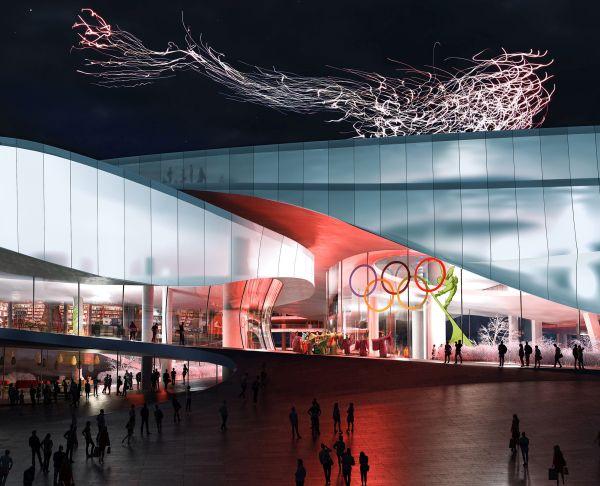 dettaglio ingresso del museo delle olimpiadi a Pechino