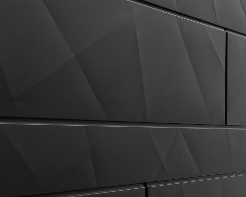 doga-x, sistema di rivestimento dalla superficie geometrica