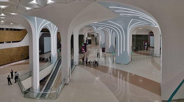 Doha metro station