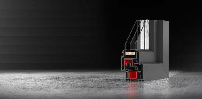 Drutex: disponibile il color antracite per l'anima del profilo in PVC dei serramenti