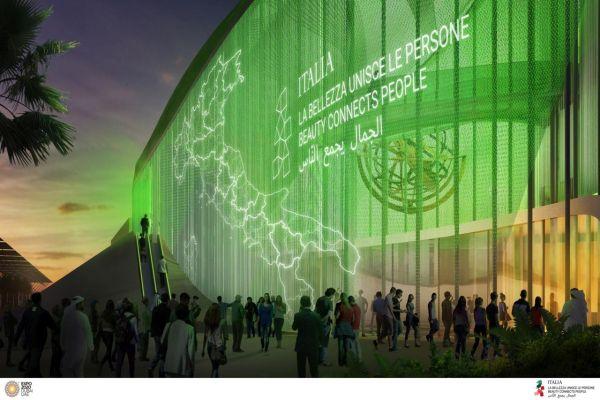 Rendering Padiglione Italia all'Expo Dubai 2020