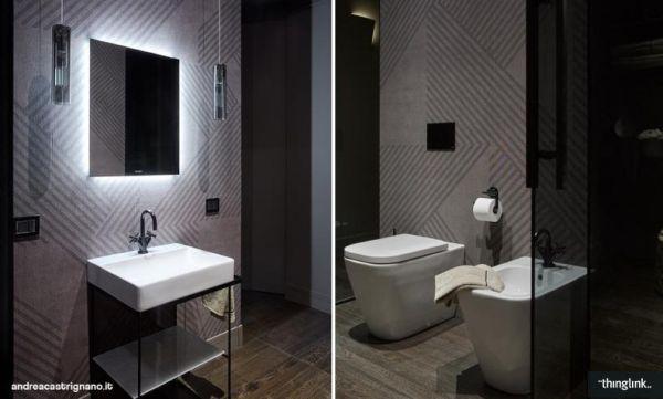Elementi Duravit scelti per il bagno dell'installazione a Milano ROOF VIEW 4.0