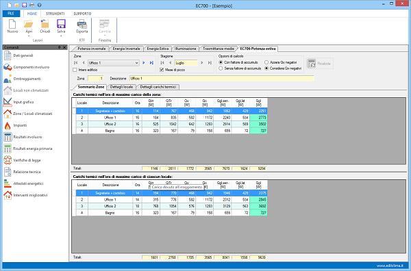 Software per il calcolo delle prestazioni energetiche
