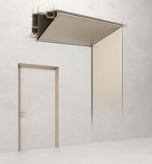 Design e innovazione per ECLISSE 40 Collection: il telaio che dona profondità alla porta