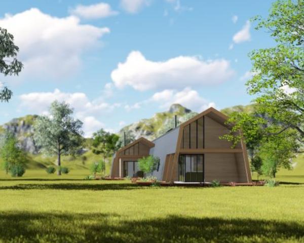 Ecokit è una casa modulare, ecologica e consegnata come un pacco sul cantiere