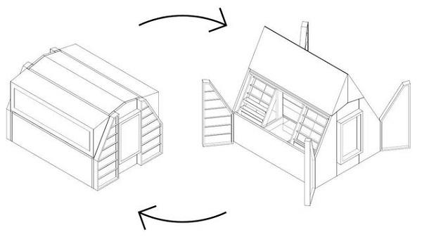 Edicola polifunzionale in legno