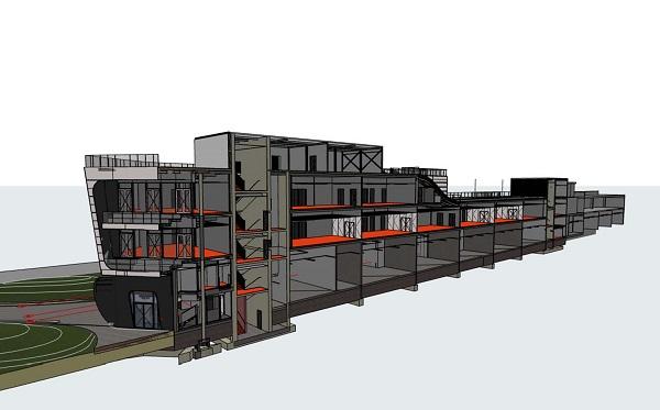 Vista 3D di una sezione del Misano World Circuit
