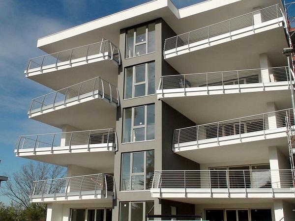 Edificio residenziale realizzato con elementi prefabbricati