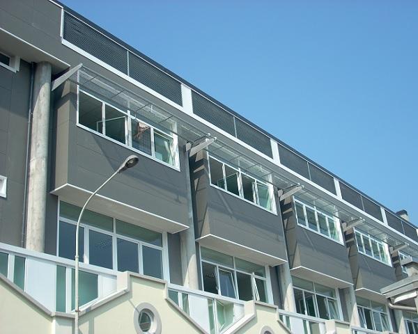 Utilizzo di carpenteria metallica in un edificio scolastico