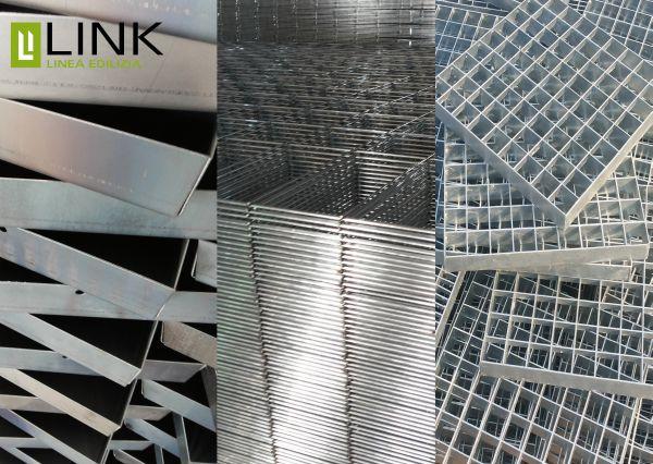 Linea edilizia Link Building prodotti per il drenaggio in acciao zincato