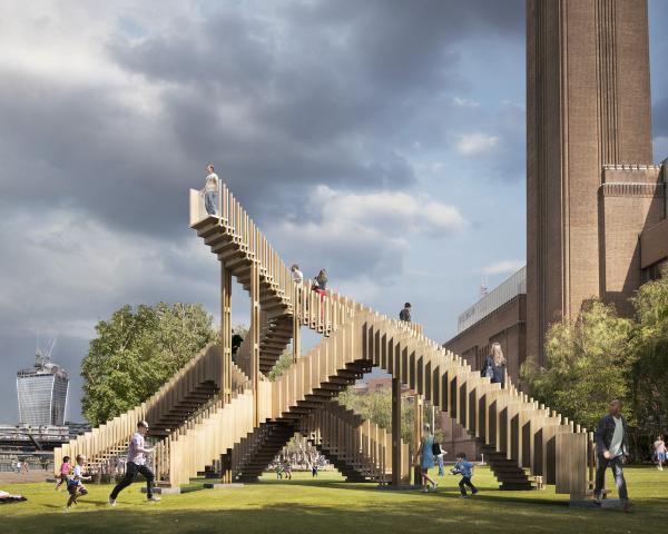 La Endless Stair di fronte alla Tate Modern