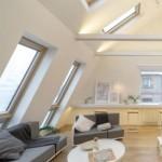 Dalla ristrutturazione di una mansarda a Mosca un luminoso open space