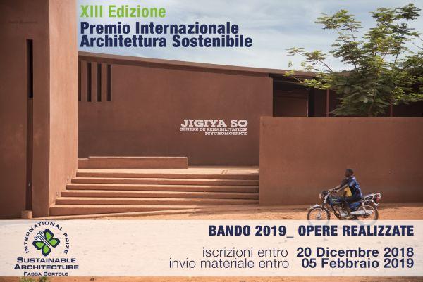 Al via la XIII edizione del Premio Architettura Sostenibile Fassa Bortolo