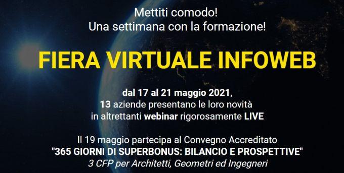 Fiera Virtuale di Infoweb con convegno accreditato