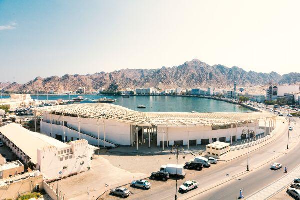 Una vista del Fish Market che abbraccia la baia.