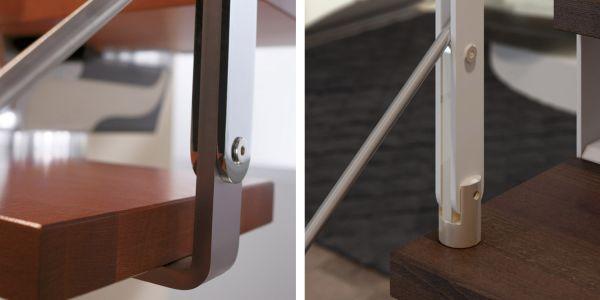 Rintal offre una vasta scelta di modelli di ringhiere per le scale a chiocciola