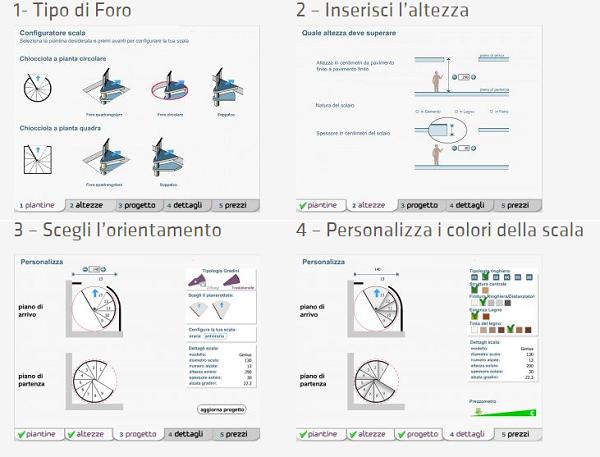 Configuratore Fontanot per scale interne