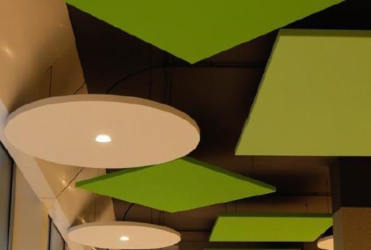 I controsoffitti Rockfon sono disponibili in diversi colori e finiture