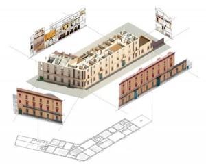Progetto di restauro di Palazzo Gulinelli a Ferrara in BIM