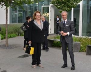 Diana Bracco, Presidente Expo 2015, in visita a i.lab 1