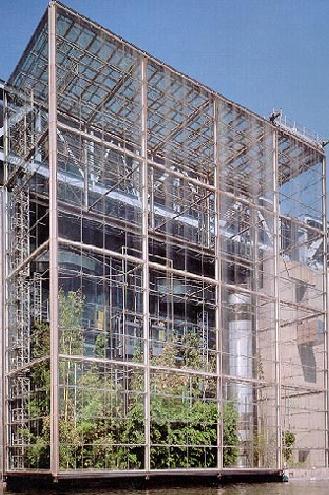 Vetrata strutturale delle serre del Museo della Scienza a Parigi