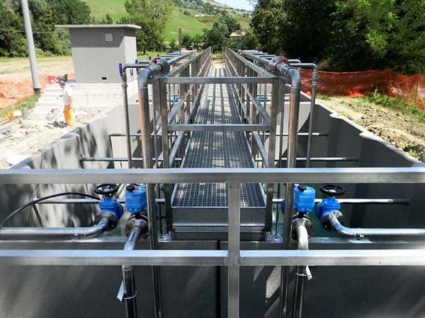Foto di un impianto di depurazione