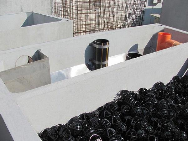 Impianto Imhoff con filtro anaerobico