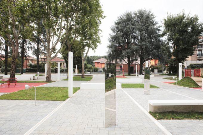 Progetto della nuova piazza-giardino di Garbagnate Milanese