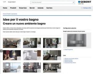 GEBERIT, nuovo sito user-friendly e veste grafica rinnovata